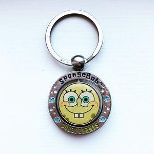 Vintage silver SpongeBob Square Pants keychain